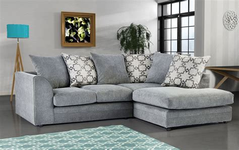 Carlos Fabric Corner Sofa Grey – High Quality Cheap Sofas ...