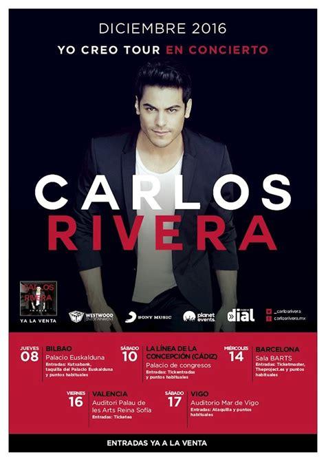 Carlos Rivera actuará en Bilbao, La Línea  Cádiz ...