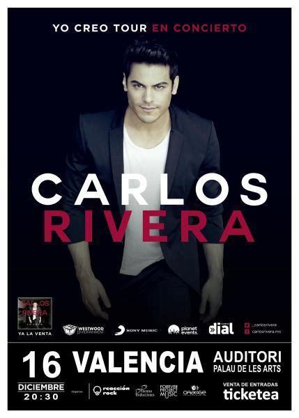 Carlos Rivera presenta su  Yo creo tour  en Valencia