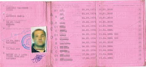 Carnet de conducir  2001  – Traspapelados