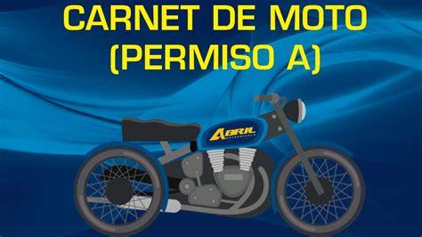 Carnet de moto  permiso a    YouTube