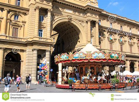 Carousel At Piazza Della Repubblica, Florence Editorial ...