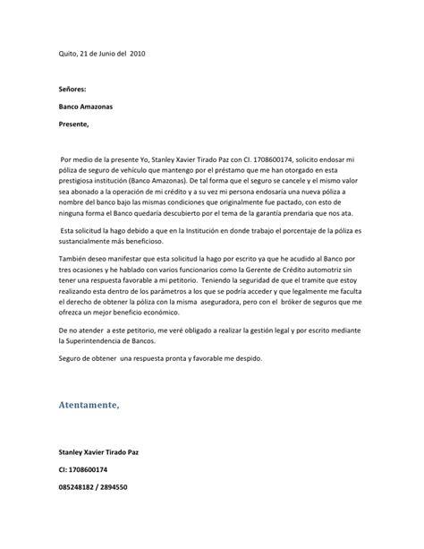 Carta banco amazonas