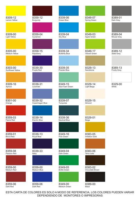 Carta de colores | Carta de colores, Carta de colores ...