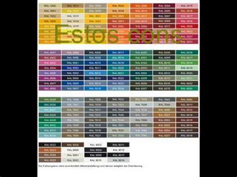 Carta de colores para paredes  RAL Y PANTONE    YouTube
