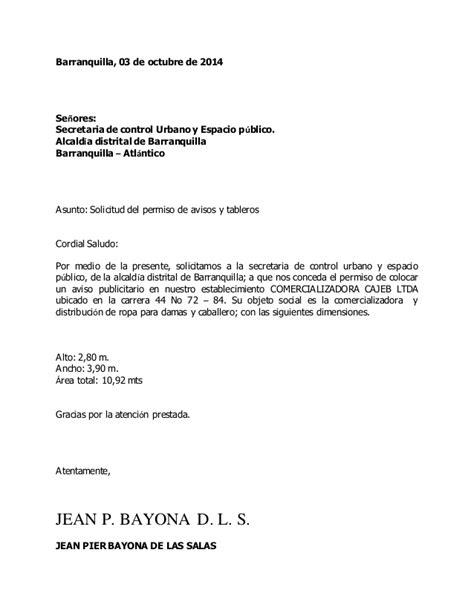 Carta de solicitud de permiso de avisos y tableros  1