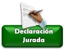 Cartas, plantillas y mucho más...: MODELO DECLARACION JURADA
