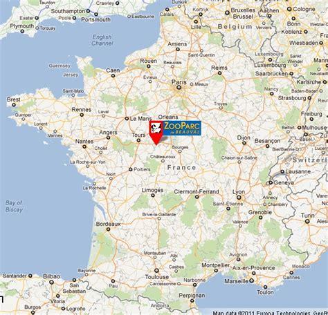 Carte de France zoo de beauval
