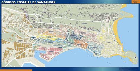 Carte Santander codes postaux | ou le plan Carte Santander ...