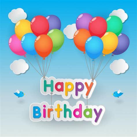 Cartel de feliz cumpleaños con globos | Vector Gratis