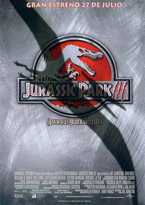 Cartel de Jurassic Park III  Parque Jurásico III    Poster ...