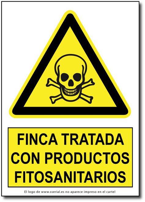 Cartel en vinilo adhesivo o PVC Finca tratada con ...