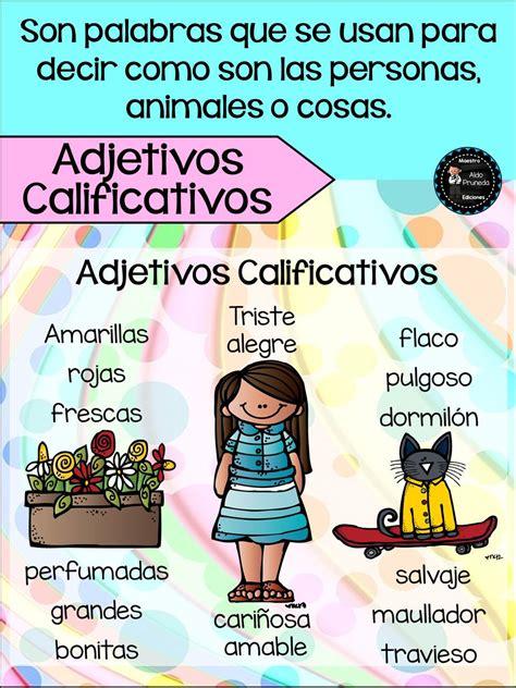 carteles de los adjetivos calificativos sustantivos 2 ...