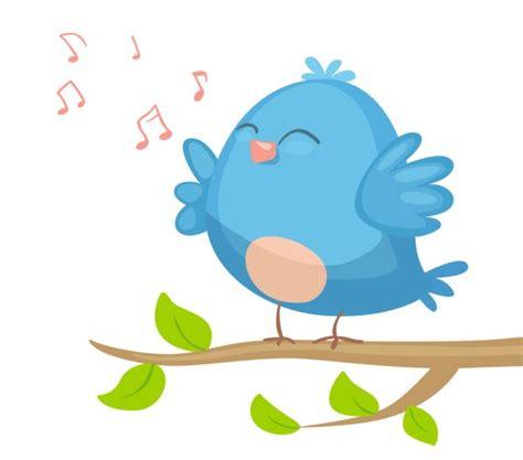 Cartoon Bird singing — Stock Vector  Real_Illusuion ...