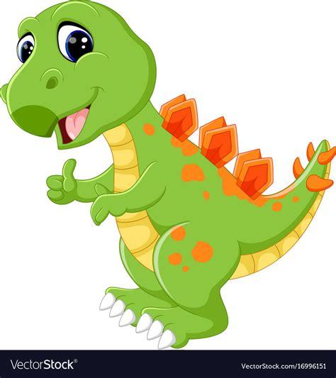 Cartoon cute dinosaur Royalty Free Vector Image