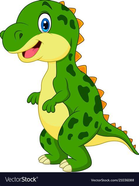 Cartoon green dinosaur Royalty Free Vector Image