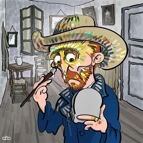 Cartunista Ilustra Desenhos Cômicos da Vida de Vincent Van ...