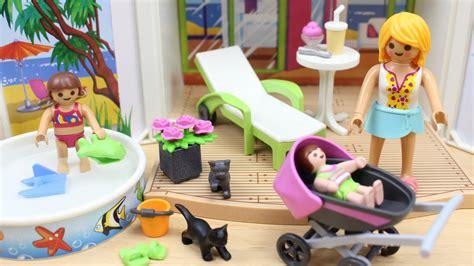 Casa de Verano PLAYMOBIL en español | Mamá, la niña y el ...