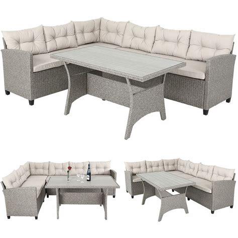 Casaria Conjunto muebles de Jardín 6 Personas Sofa de ...