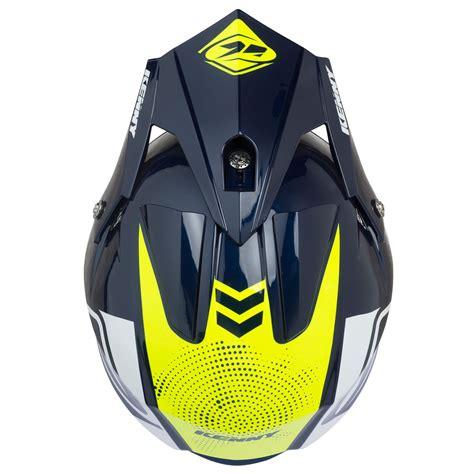 Casco de motocross Kenny TRIAL AIR NAVY NEON YELLOW 2021 ...