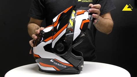 Casco modular Touratech   Aventuro MOD   YouTube