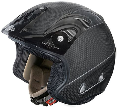 Casco Moto Jet Premier Trial Free Carbonio Opaco Vendita ...