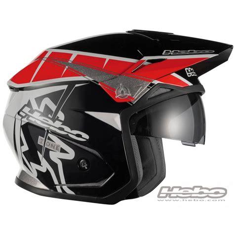 Casco moto trial e moto alpinismo HEBO ZONE 5 T ONE rosso ...