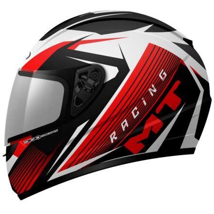 Casco para moto integral MT Thunder Axe blanco y rojo a ...