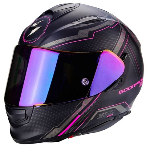 Casco Scorpion Exo 510 Air Sync Mujer Negro Mate Rosa Integral