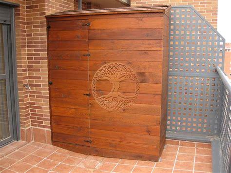 Casetas de madera en Madrid   Armarios de madera para exterior