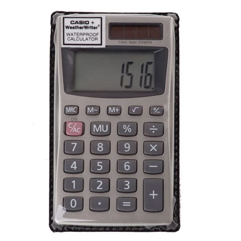 Casio Waterproof Calculator – WeatherWriter