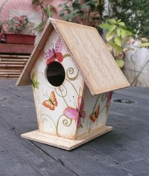 casita de pájaros decoupage | Bird houses painted ...
