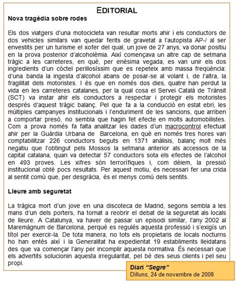 català 3r ESO: Gèneres periodístics