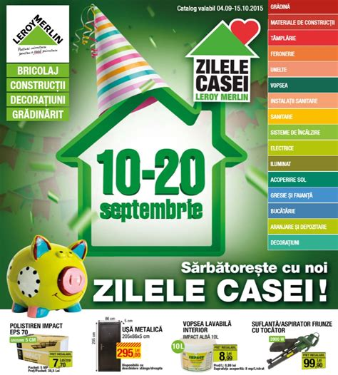 Catalog Leroy Merlin 4 Septembrie   15 Octombrie 2015 ...