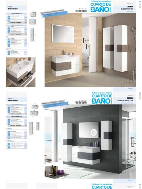 Catalogo Muebles de Baño CRONOS Salgar 2014 | Ingeniería ...