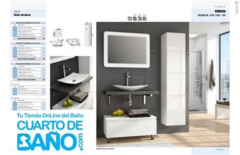 Catálogo muebles de baño Salgar VERSUS 2014