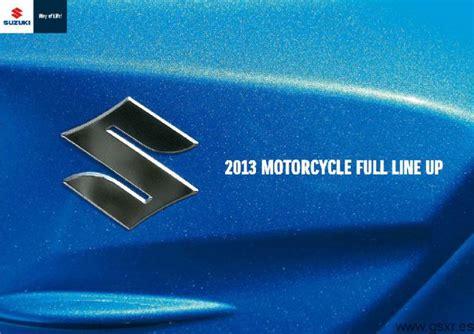 Catálogo oficial motos Suzuki todos los modelos del 2013 ...