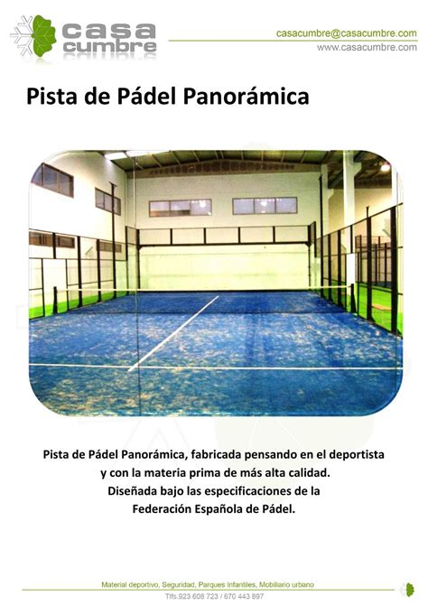 catalogo_pista_de_padel_panoramica by Pablo Nuñez   issuu