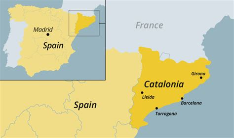 Catalonia map: Where is Catalonia and why has it declared ...