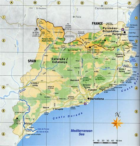 Catalonia road map   Full size