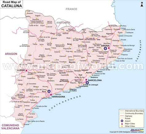 Catalonia Tourism Map Area | Map of Spain Tourism Region ...