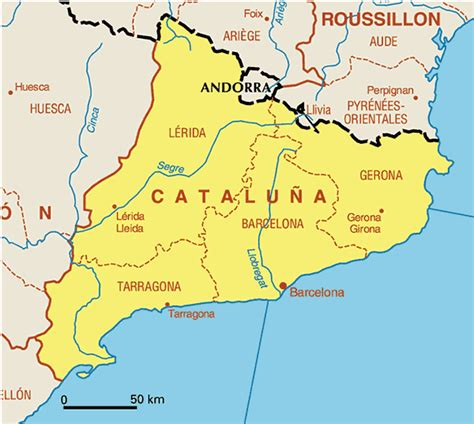 Cataluña Map Pictures and Information | Map of Spain ...