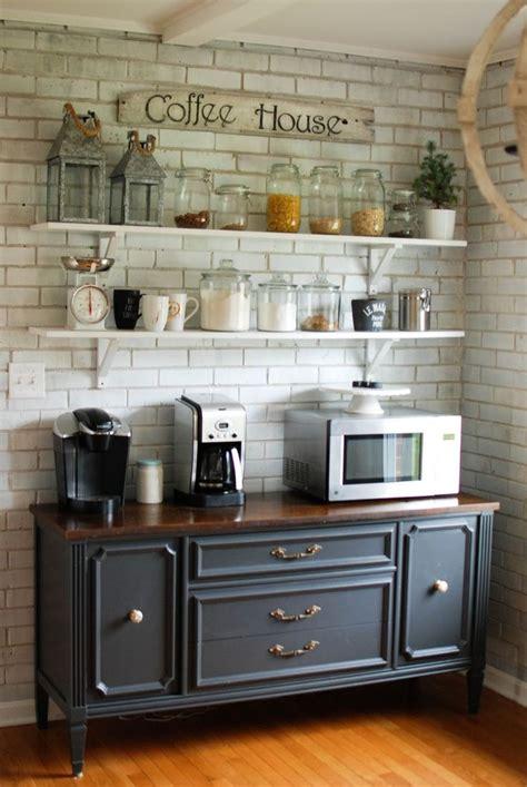 Caught in Grace: Open Shelves Coffee Bar/ Buffet | Home Decor