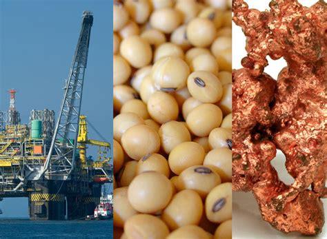 Causas que explican la caída del precio de las materias primas