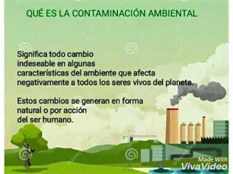 Causas y consecuencias de la contaminación ambiental   YouTube