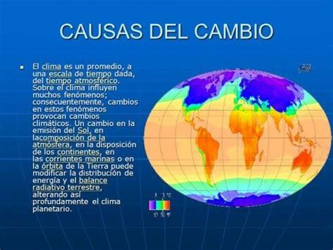 Causas y efectos del cambio climático global | Cambio ...