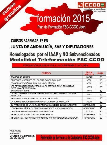 CCOO Justicia Jaen: PLAN DE FORMACIÓN IAAP HOMOLOGADOS NO ...