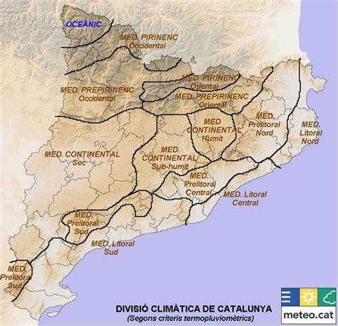 CCSS : MAPA CLIMATOLÒGIC DE CATALUNYA