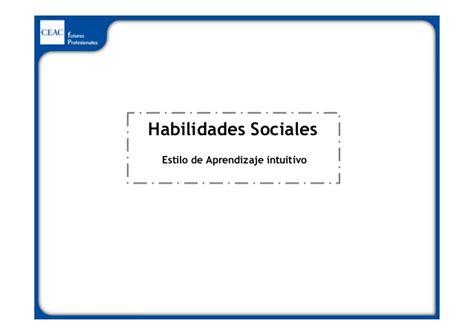 CEAC: ¿Cuáles son tus habilidades sociales?