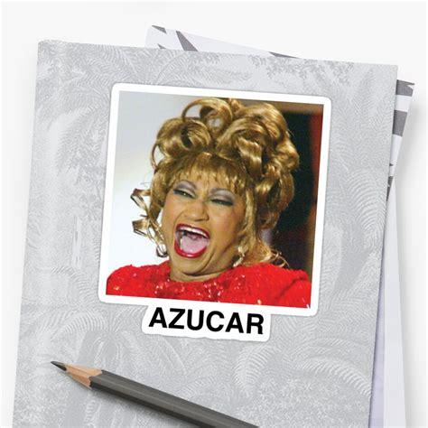 Celia Cruz Azucar  Sticker by jjosedubonn | Redbubble